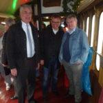 Voerdes stv. Bürgermeister Bert Mölleken, Dinslakens Bürgermeister Dr. Michael Heidinger und HV-Vorsitzender Heinz Boß
